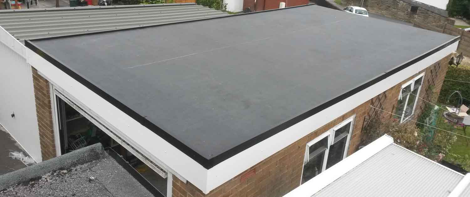Flat Roof Installation : Rubber flat roofing by crown building and services